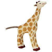 Giraffe, Small, Feeding - Holztiger