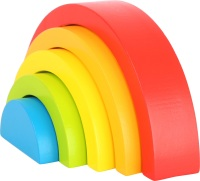 Rainbow Wooden Building Blocks - 5 piece