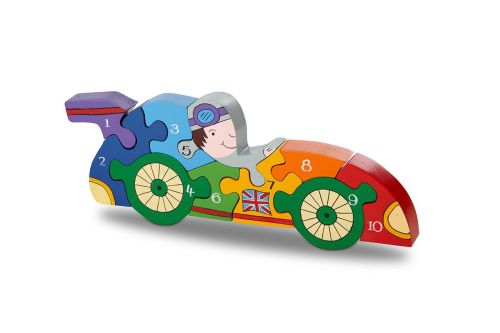 Number Jigsaw - Racing Car