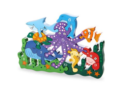 Number Jigsaw and Play set - Ocean