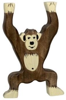 Chimpanzee, standing - Holztiger