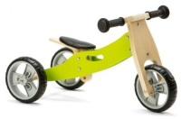 Mini 2 in 1 Wooden Balance Bike Trike - Green