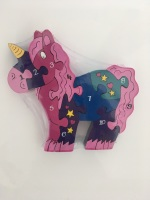 Number Jigsaw - Unicorn