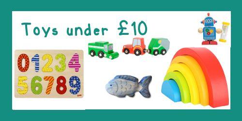 Wooden Toys under £10