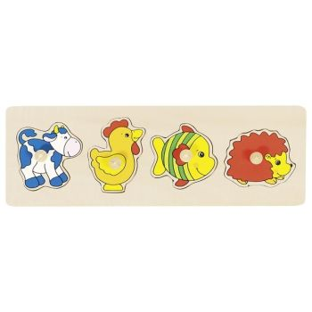 Peg Puzzle Row Animals 2