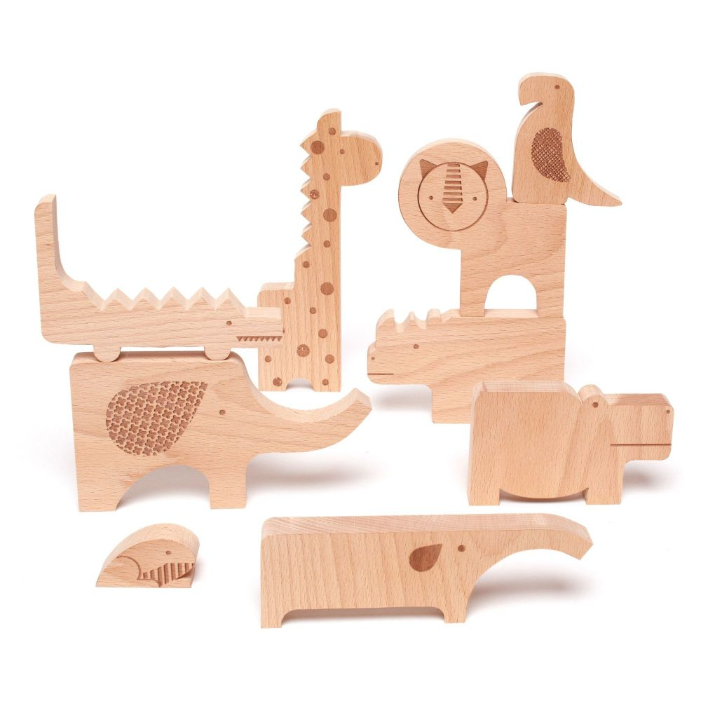 Wooden Puzzle & Play Safari