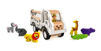 Pull back Zoo vehicle with Animals