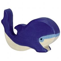 Blue Whale - small- Holztiger