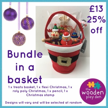 Christmas bundle in a basket