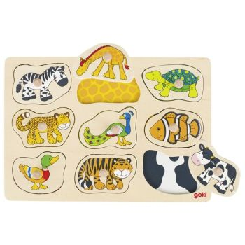 Peg Puzzle - Animal - Who belongs where?