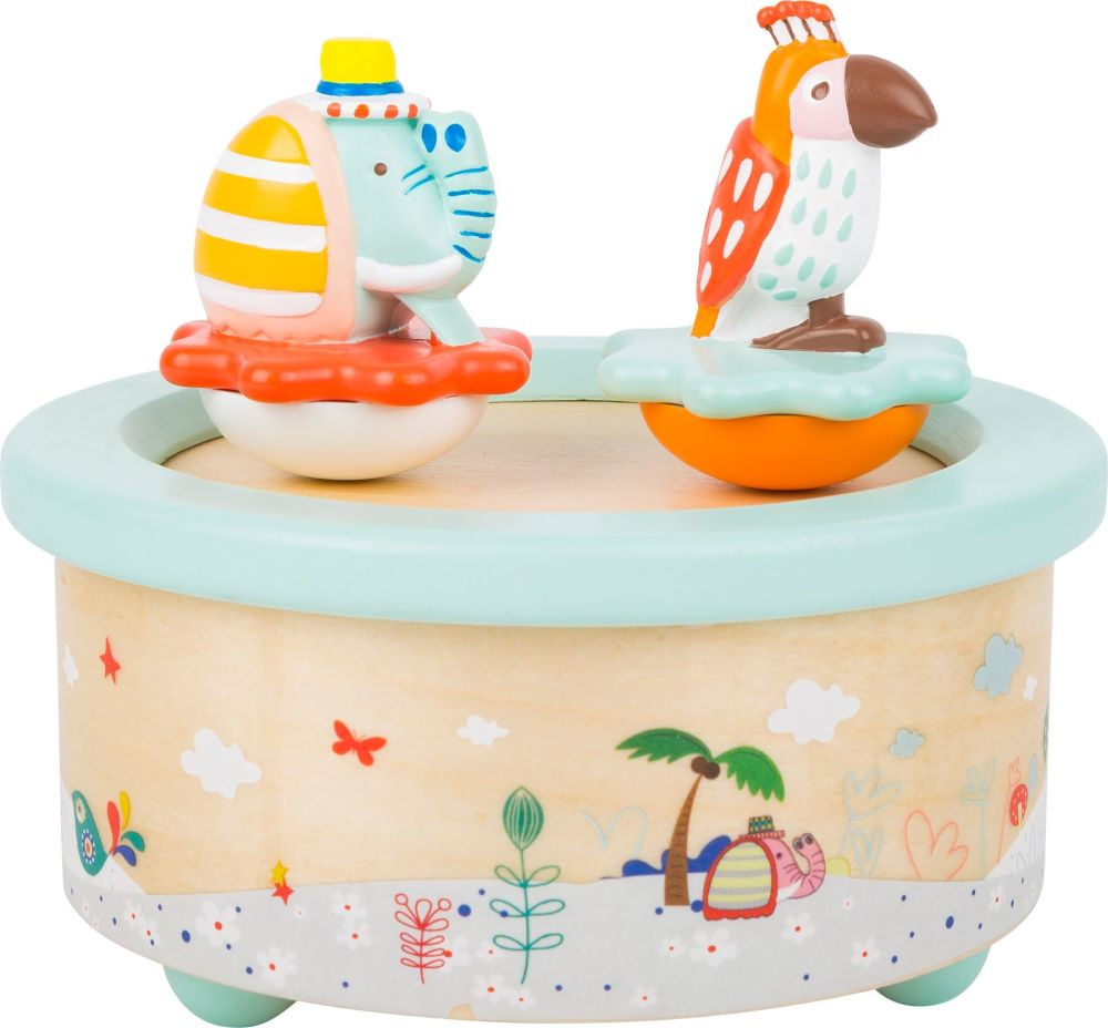 Elephant and Parrot Musical Box