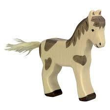 Foal, standing, dappled - Holztiger
