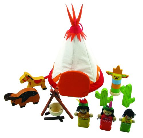 Red Indian themed play set