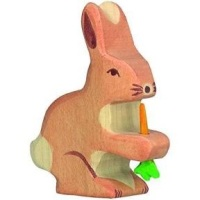 Hare, with carrot - Holztiger