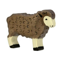 Sheep Standing, black - Holztiger