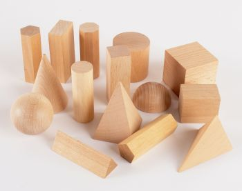 Geometric Solid Shapes  - Natural