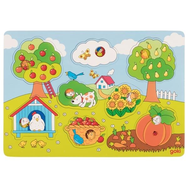 In the garden - Peg Puzzle