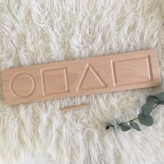 Wooden Tracing Board - Shape