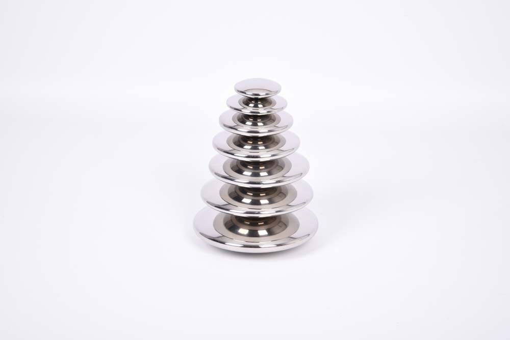 Buttons, Reflective Silver