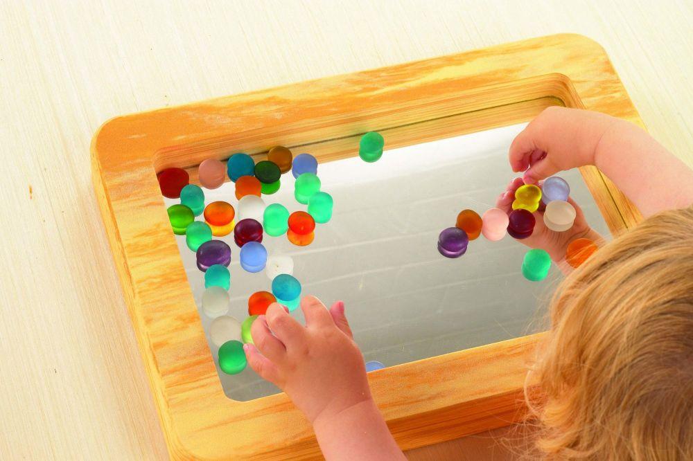 Wood Effect Softie Mirror Tray
