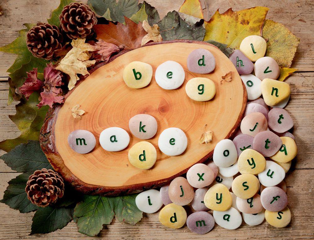 Alphabet Pebbles - Word-Building Set (50 pebbles)