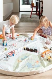 Play & Go, play mat & toy storage - Fantasy Train Map