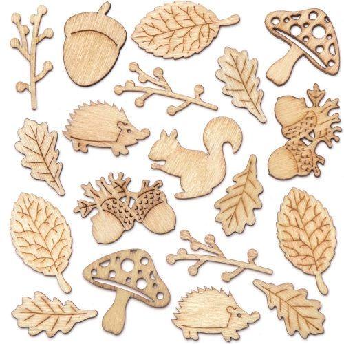 Autumn Wooden Shapes x 10