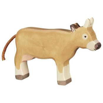 Cow, standing, brown - Holztiger