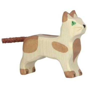 Cat, Standing, Small - Holztiger
