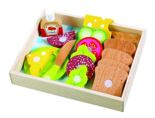 Wooden Bread and Toppings Tray