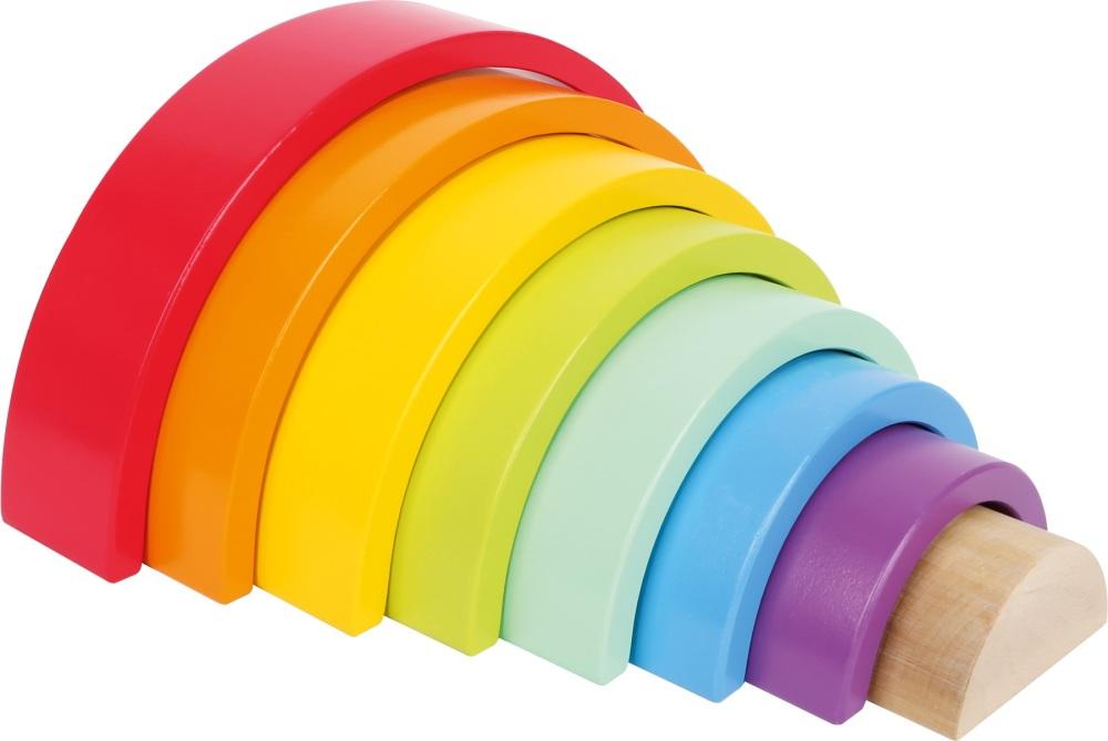 Rainbow Wooden Building Blocks - 8 piece