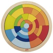 Circle Jigsaw  - natural