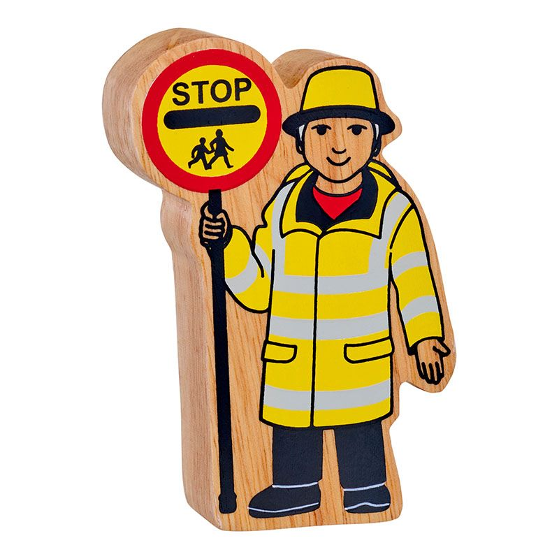 Yellow & Black Lollipop Person