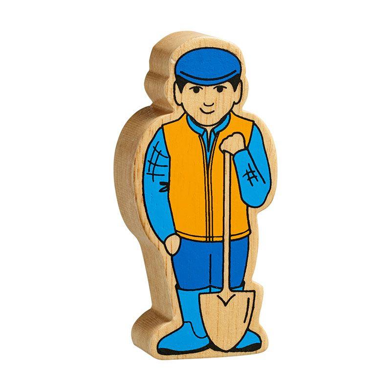 Blue & Yellow Farm Man
