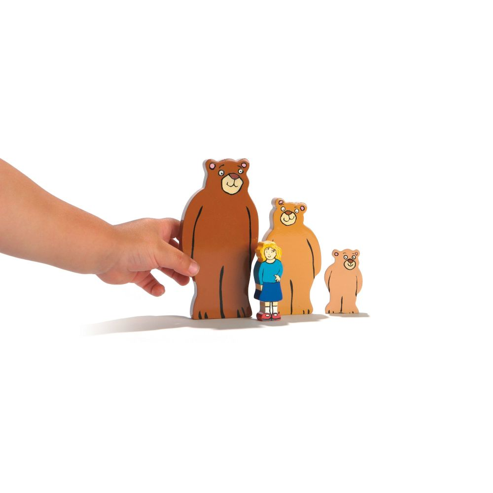 Goldilocks and the Three Bears - Wooden Characters