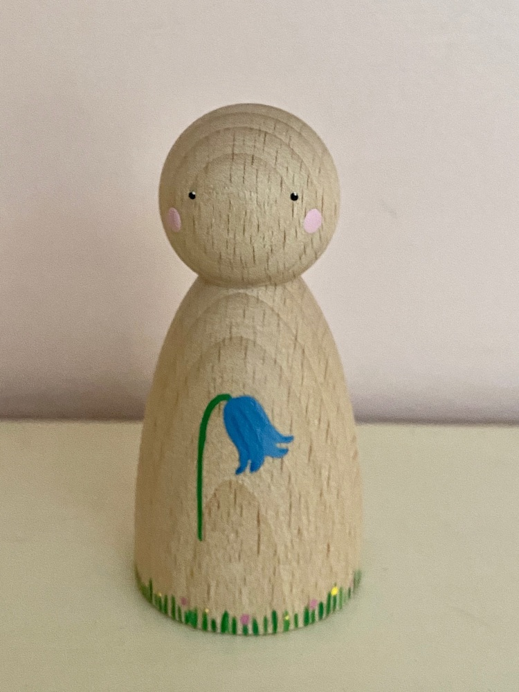 Peg Doll, Spring collection - Bluebell