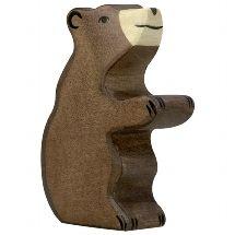 Brown Bear Small, sitting - Holztiger