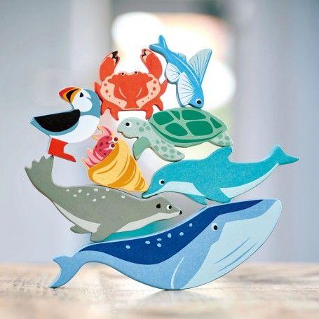 10 Sea Creature Animals  & Shelf