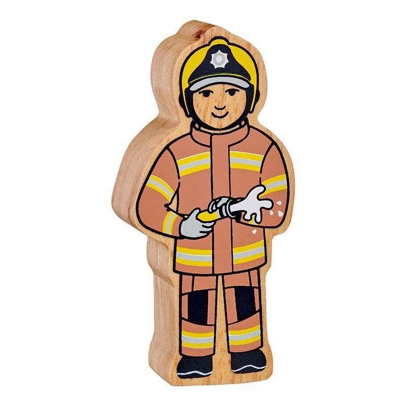 Figure - Brown & Yellow Firefighter