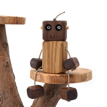Ned the Robot - Muddly Ned - Walnut Head