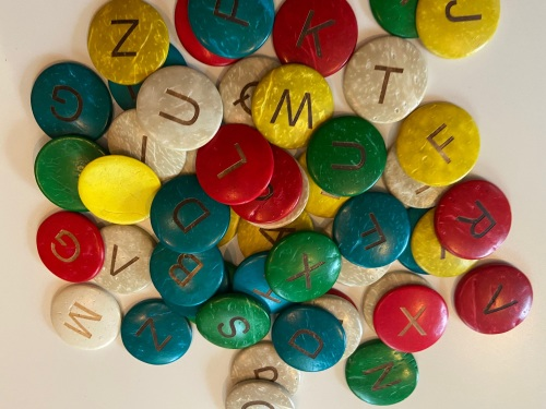 Coconut Shell, Upper Case Letters