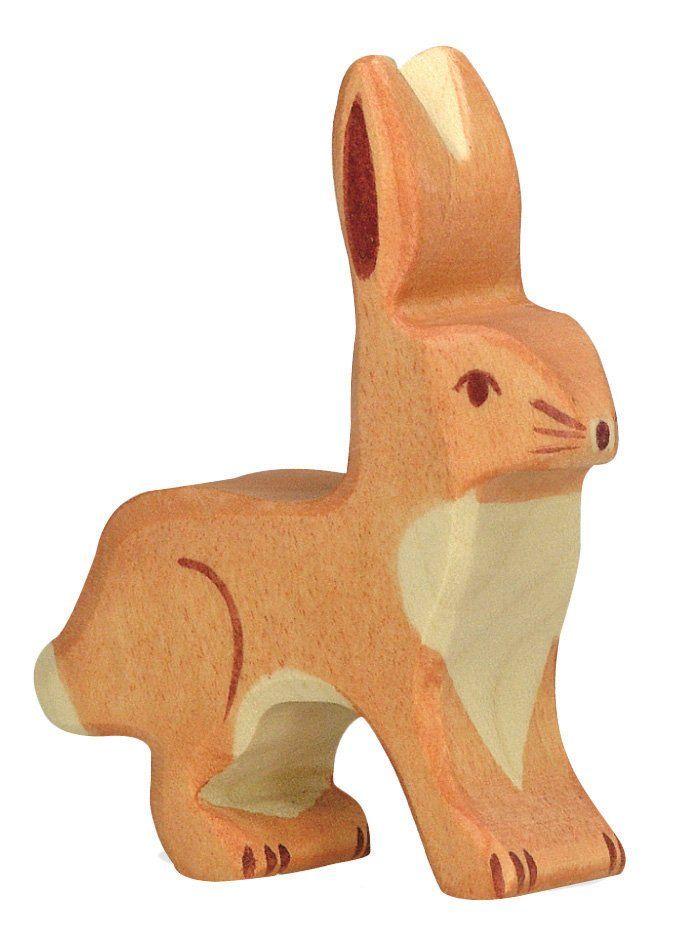 Hare, upright ears  - Holztiger