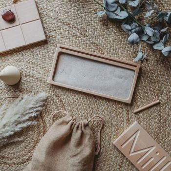 Wooden Sand Writing Tray