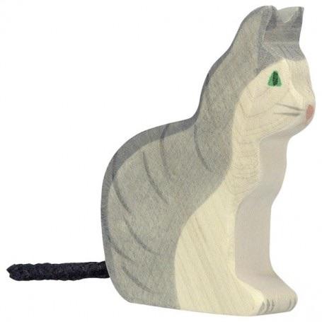Cat, Sitting - Holztiger
