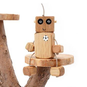 Ned the Robot - Football Chest Ned in Oak