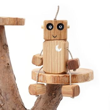 Ned the Robot - Moon Chest Ned in Oak