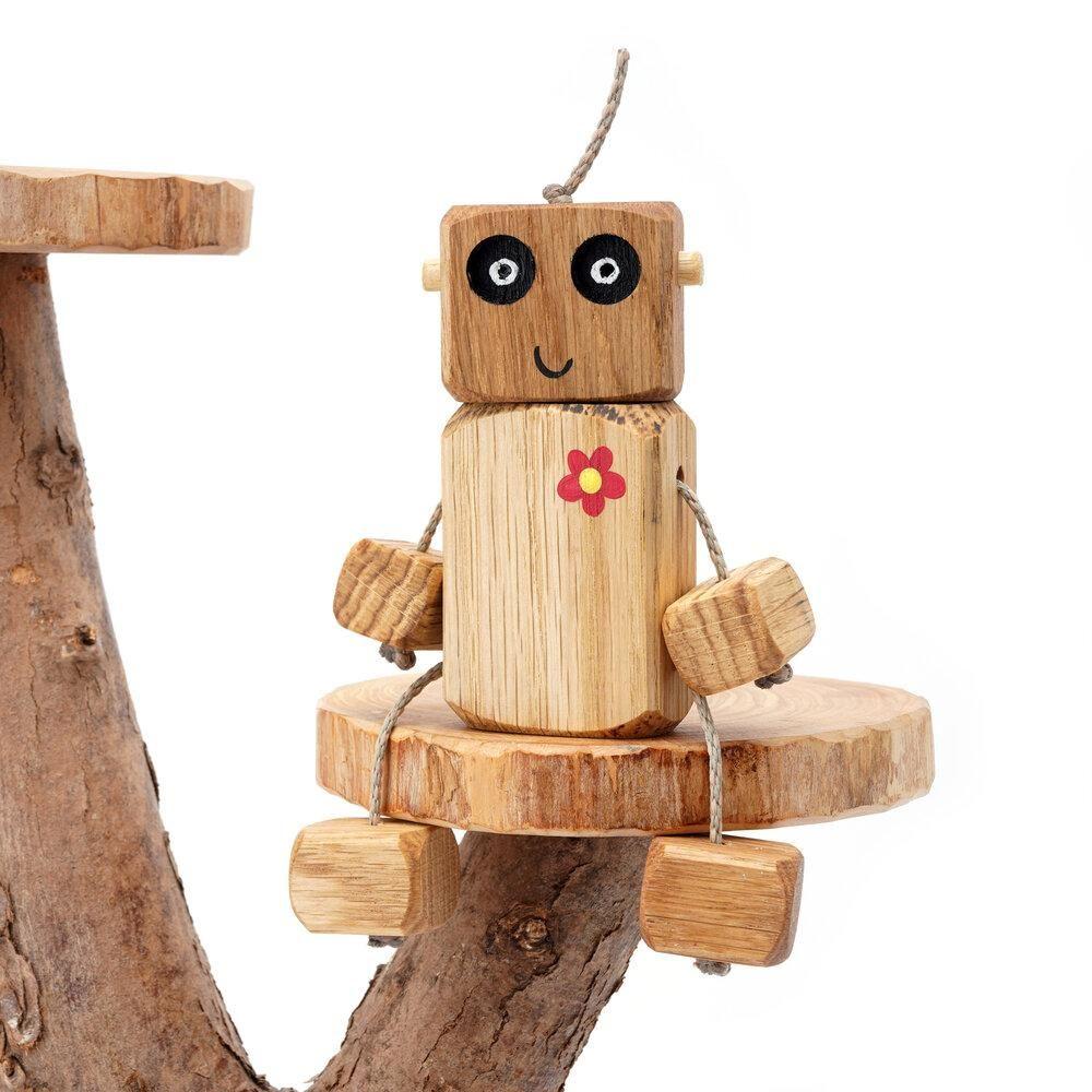 Ned the Robot - Flower Chest Ned in Oak
