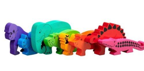 Bag of 8 animals - Rainbow Animals