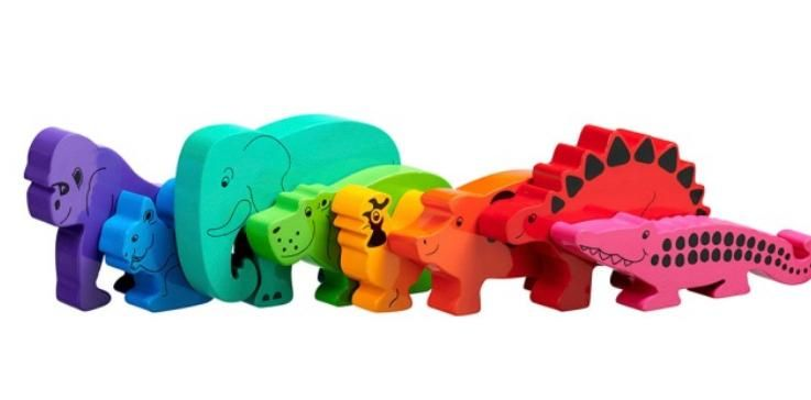 Bag of 8 animals - Rainbow Animals