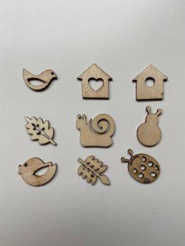 Autumn Garden Designs, 45 Wooden Shapes